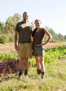 Farmers Justin and Paige are the rock stars responsible for Serenbe Farms.