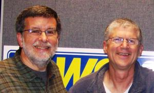 Former Extension Agents Walter Reeves and Ashton Ritchie hanging out at Walter's WSB radio show studio in Atlanta